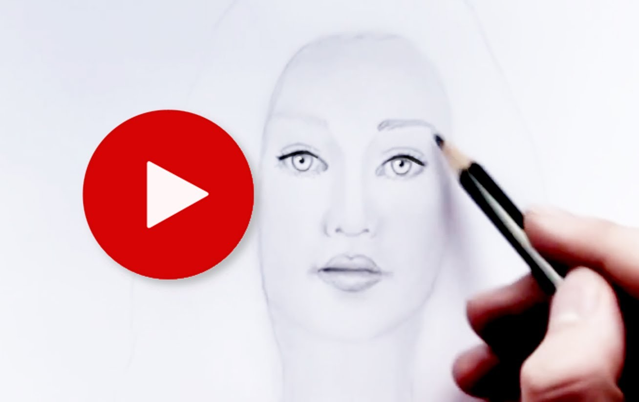 1308x824 How To Draw A Realistic Face, Girl With Pencil Step By Step 23
