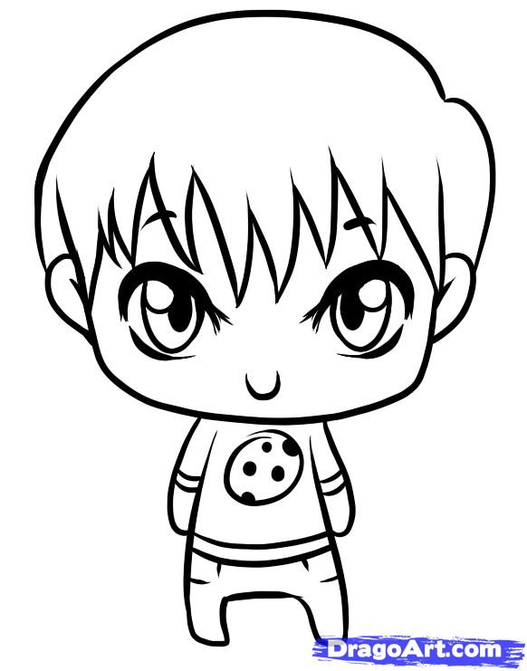 582x741 Drawn Little Girl Little Kid