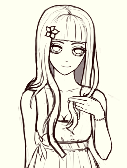 513x680 Creepy Girl Sketch By Swaja