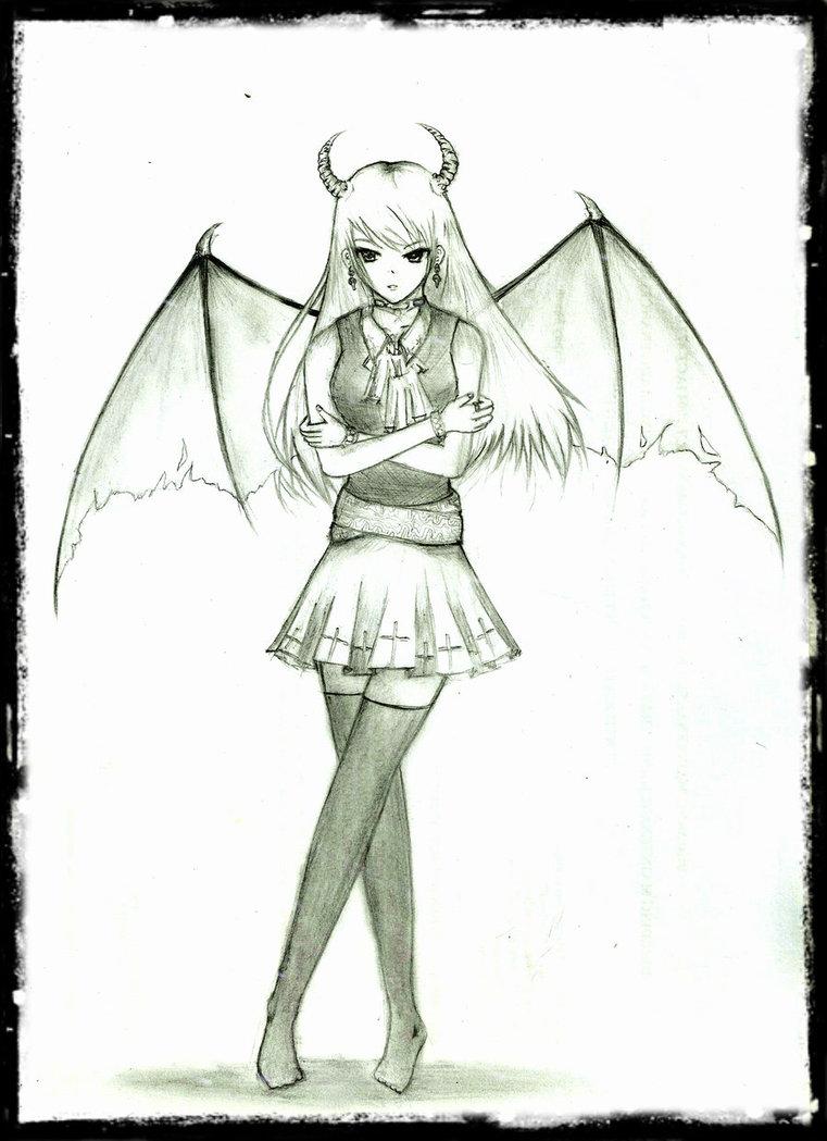 761x1049 Demon Girl Oc By Shrimpale