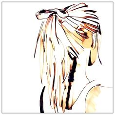 236x236 Girl Drawing Sketch Beauty Art Illustration Hair Bun Scribbling