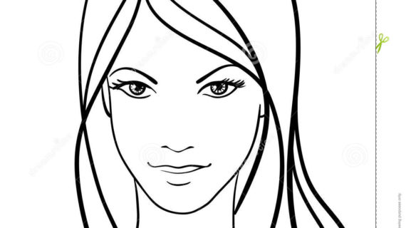 570x320 Simple Drawing Of A Girl Simple Drawing Girl Face