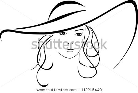 450x305 Sketch Clipart Beautiful Lady