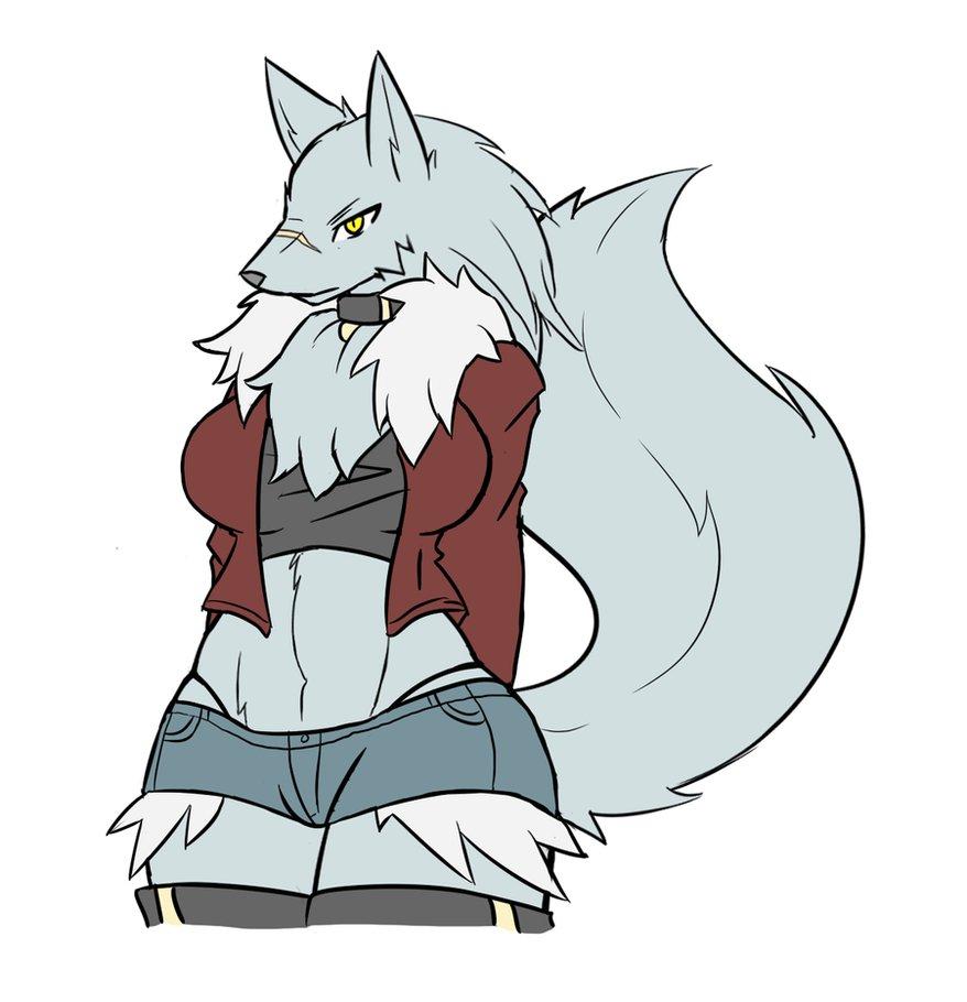 878x910 Wolf Girl Sketch By Rakkuguy