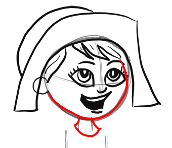 340x294 How To Draw Cartoon Pilgrim Girl For Thanksgiving Step By Step