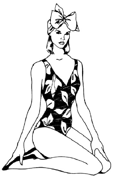 400x621 How To Draw People Woman In A Bathing Suit Howstuffworks