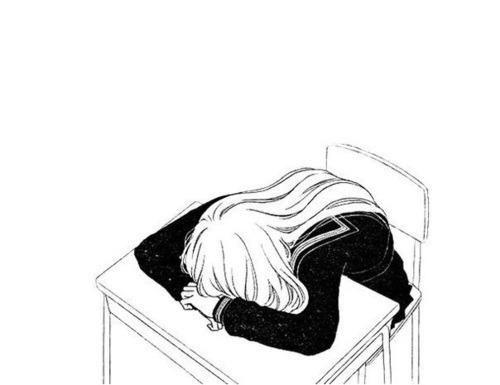 500x385 Anime Girl Sleepy Tumblr