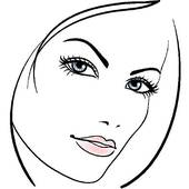 170x170 Clip Art Of Beauty Woman Face, Beautiful Girl Vector Portrait