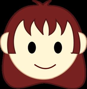 294x300 Girl Face Happy Clip Art