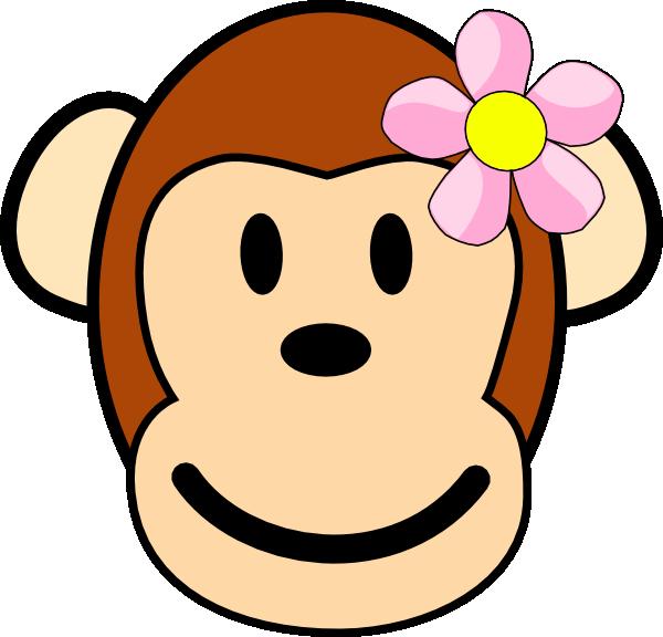 600x576 Girl Monkey Face Clipart