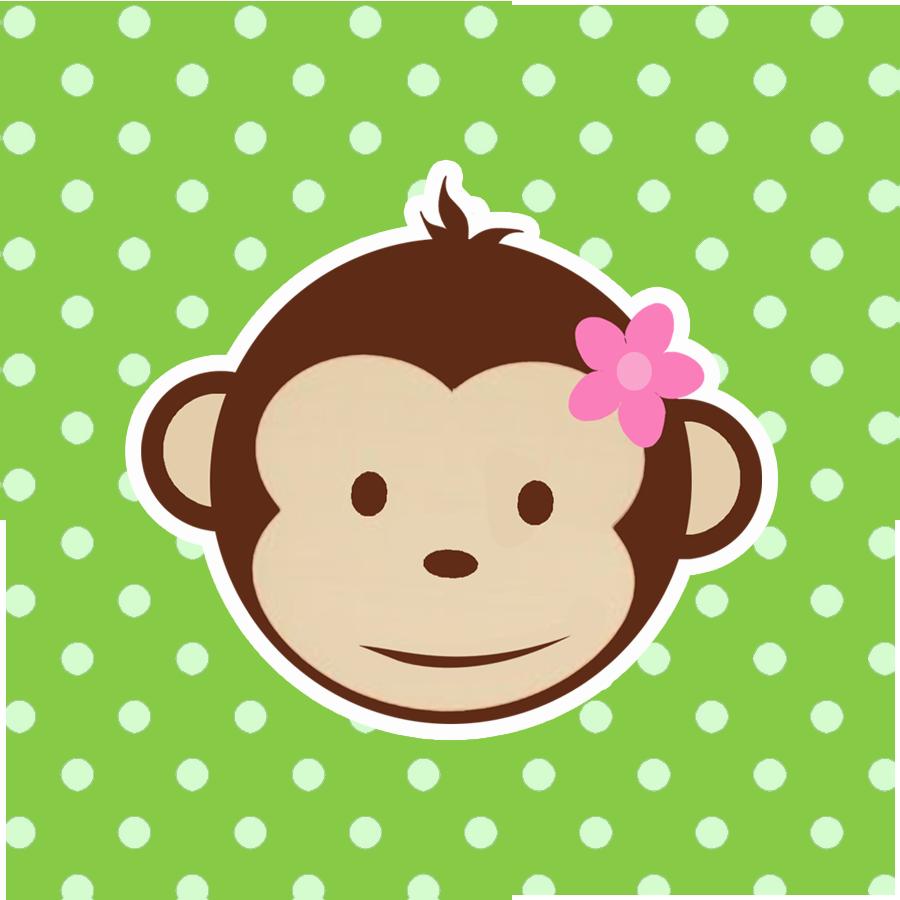 900x900 Girl Monkey Face Clipart