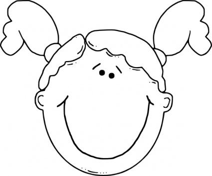 425x354 Cartoon Girl Face Clip Art Clipart