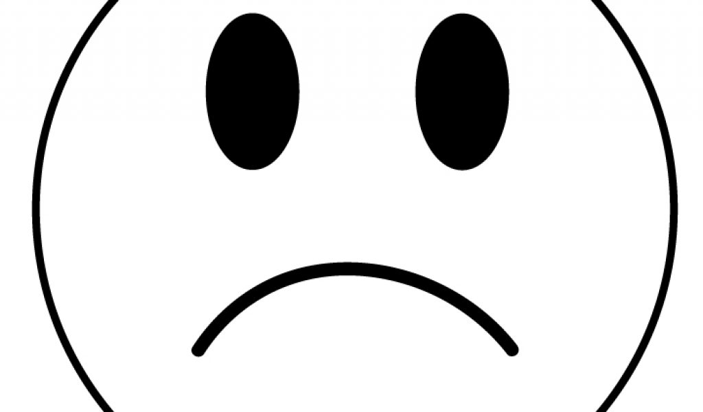 1024x600 Frowny Face Clipart