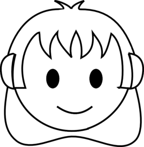 294x300 Girl Face Happy Bw Clip Art