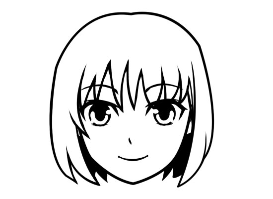 550x400 Anime Clipart Black And White