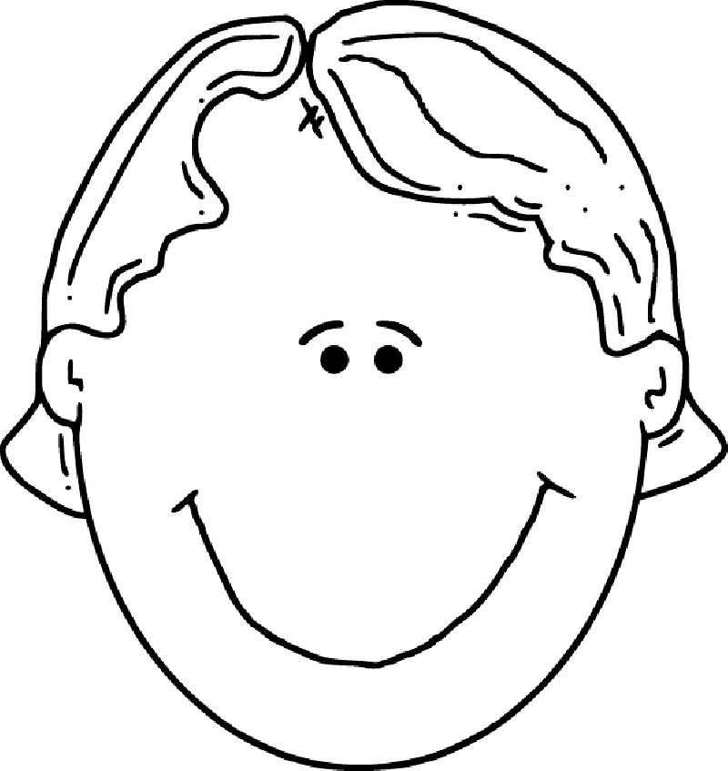 800x847 Head, Part, Outline, People, Boy, Happy, Kid, Girl