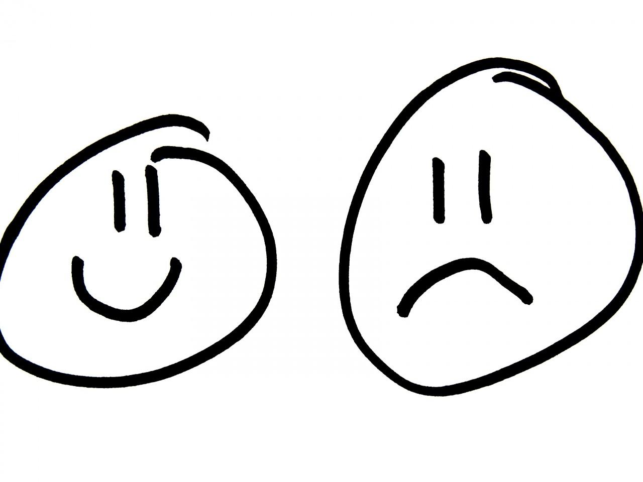 1280x960 Sad Clipart Face Outline