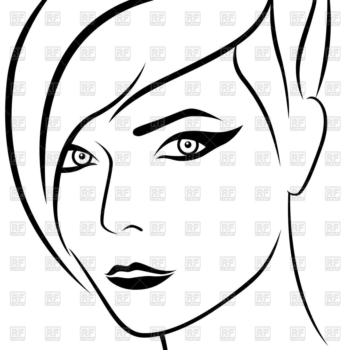 1200x1200 Women Face Outline Related Keywords Amp Suggestions