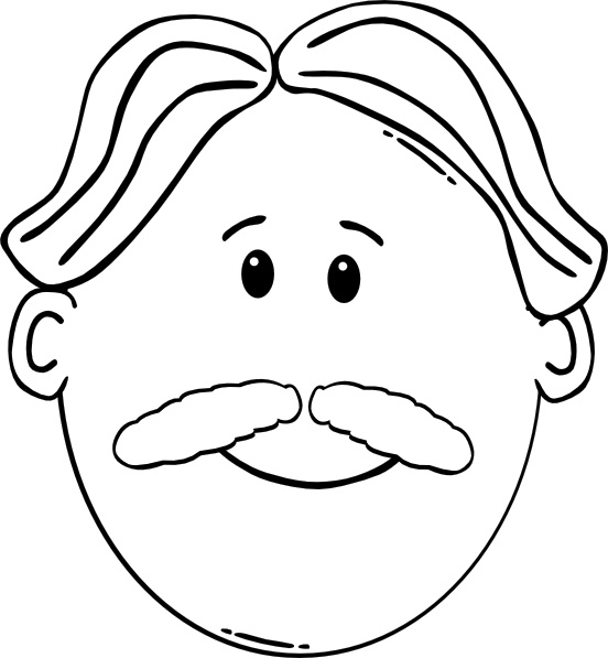 552x597 Outline Of Face Clipart