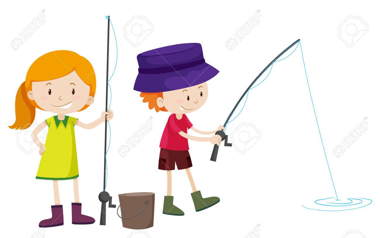 1300x815 Girl Fishing Clipart 101 Clip Art