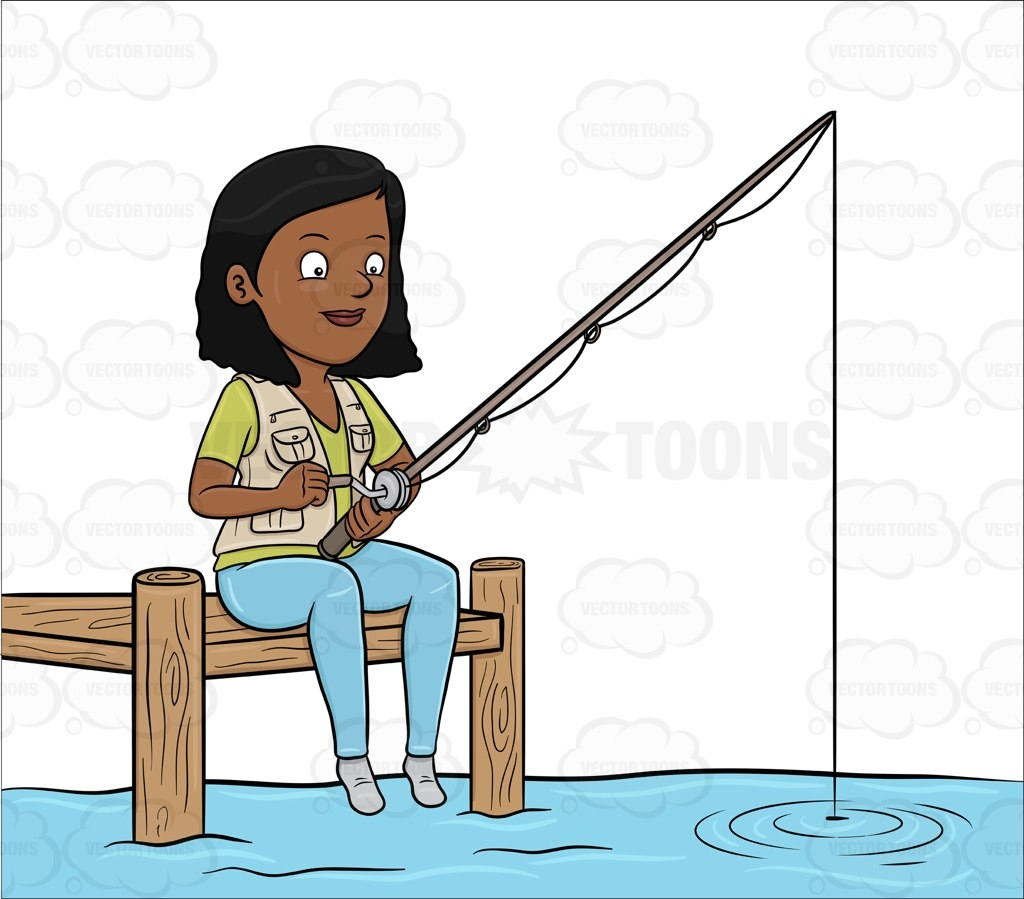 1024x899 Girl Fishing With Dad Clipart