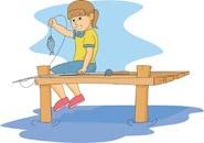 185x130 Little Girl Fishing Clipart