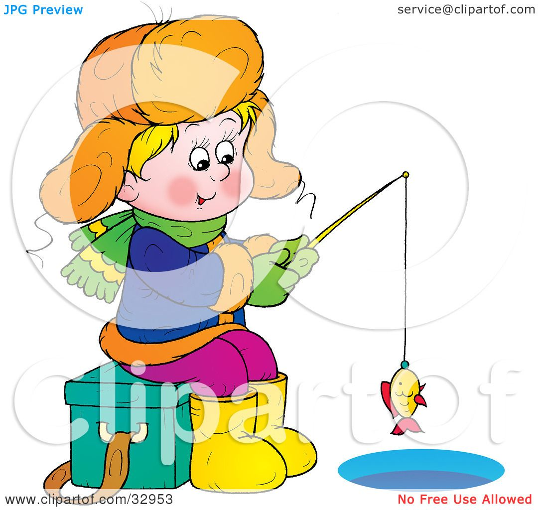 1080x1024 Clipart Of A Black And White Boy And His Dog Fishing From A Raft