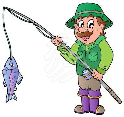 400x377 Fisherman Clipart
