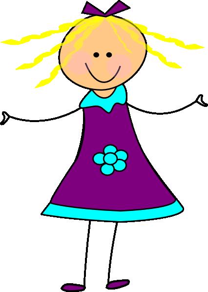 426x598 Getting Dressed Happy Girl Purple Clip Art