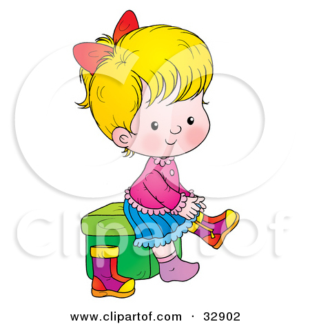 450x470 Girl Getting Dressed Clipart