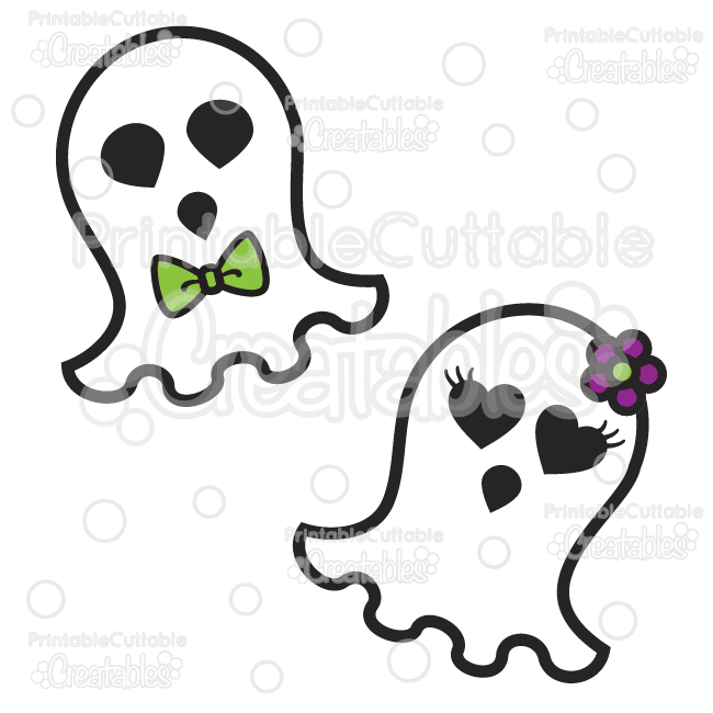650x650 Cute Ghosts Halloween Svg Cutting Files Amp Clipart
