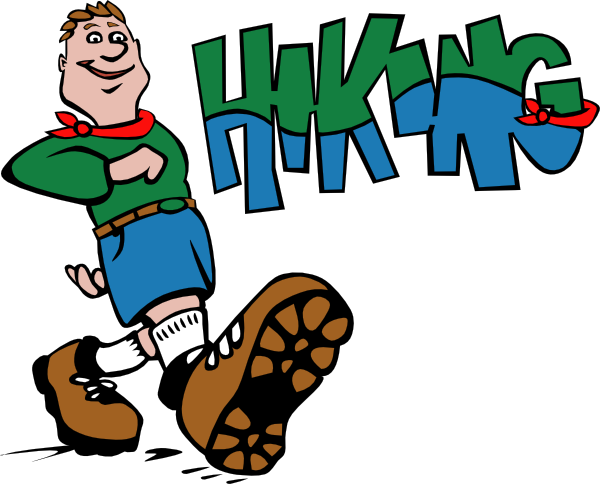 600x484 Hiker Hiking Clip Art