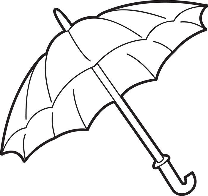 700x660 Drawn Umbrella Colouring Picture
