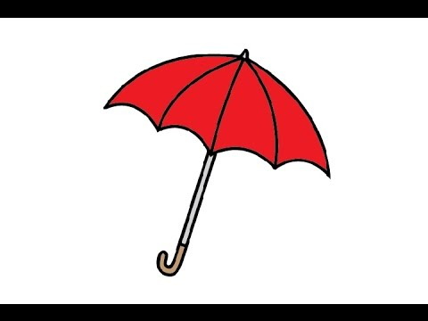 480x360 How To Draw An Umbrella Easy Step By Step