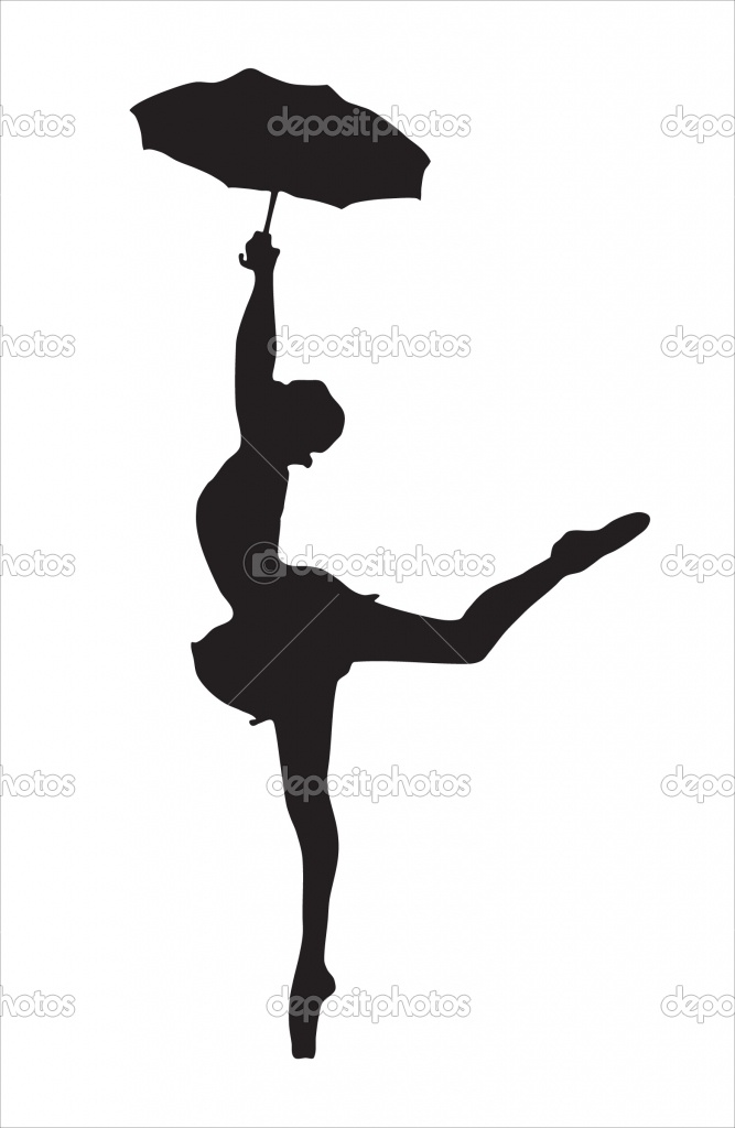 667x1024 Image Detail For Silhouette Of The Ballerina Stock Vector