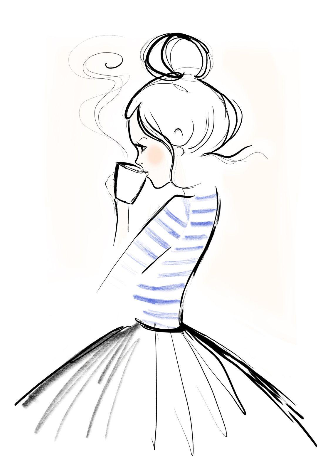 1100x1556 Mondaycoffee, Monday, Coffee, Kera Till, Illustration Draw Me