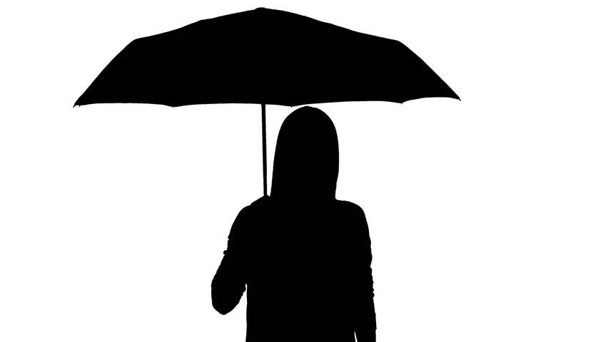 852x480 Black Umbrella Isolated Stock Footage Video Shutterstock