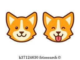 258x194 Dog Face Clipart And Illustration. 7,775 Dog Face Clip Art Vector