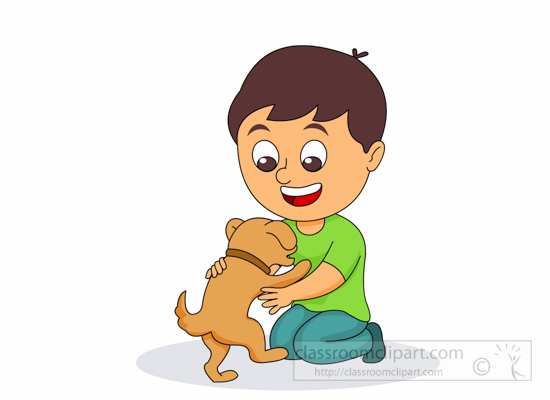 550x400 Pets Clipart Boy Dog