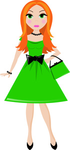 140x300 Girl Clipart Image