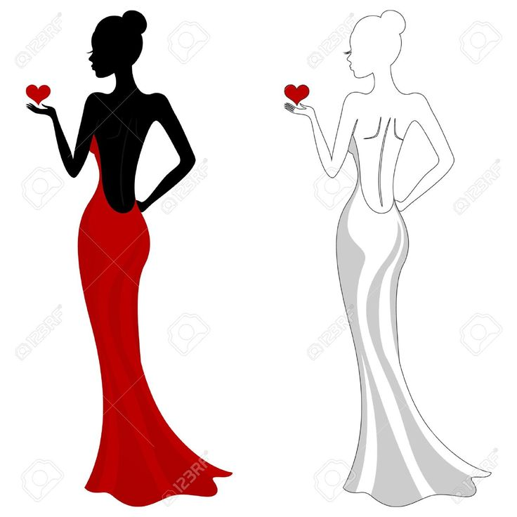 736x736 Woman In A Dress Clipart