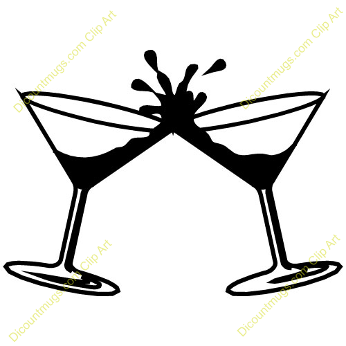 500x500 Cocktail Glass Clipart