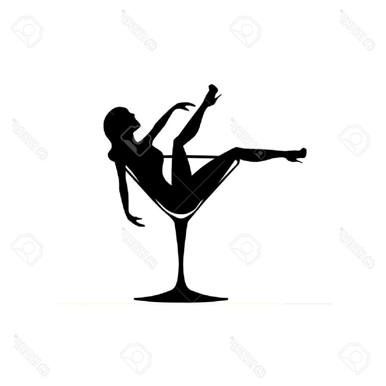 1300x1300 Top Girl In Cocktail Glass Stock Vector Burlesque Image