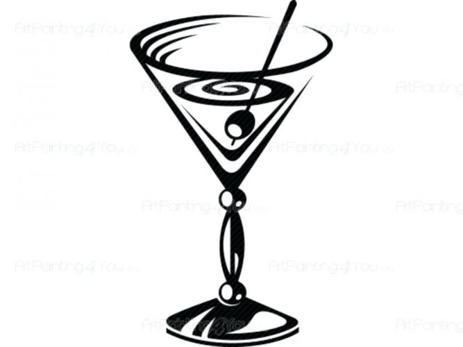 667x500 Wall Arts ~ Details Fashion Wall Decals Girl In Martini Martini