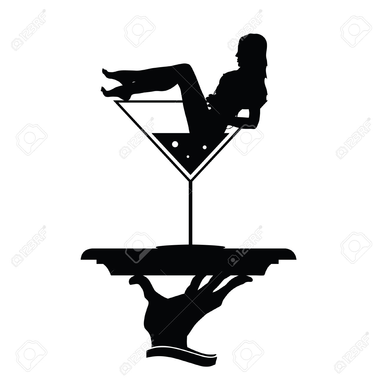 1300x1300 Woman In Martini Glass Clipart Collection