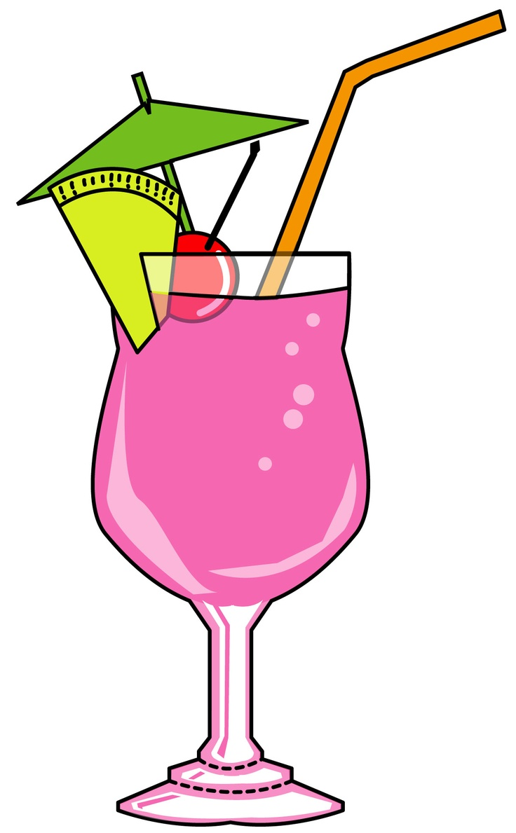 Girl In Martini Glass Clipart