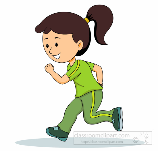 Girl Jogging Clipart   Free download on ClipArtMag
