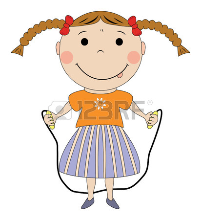 Girl Jumping Clipart