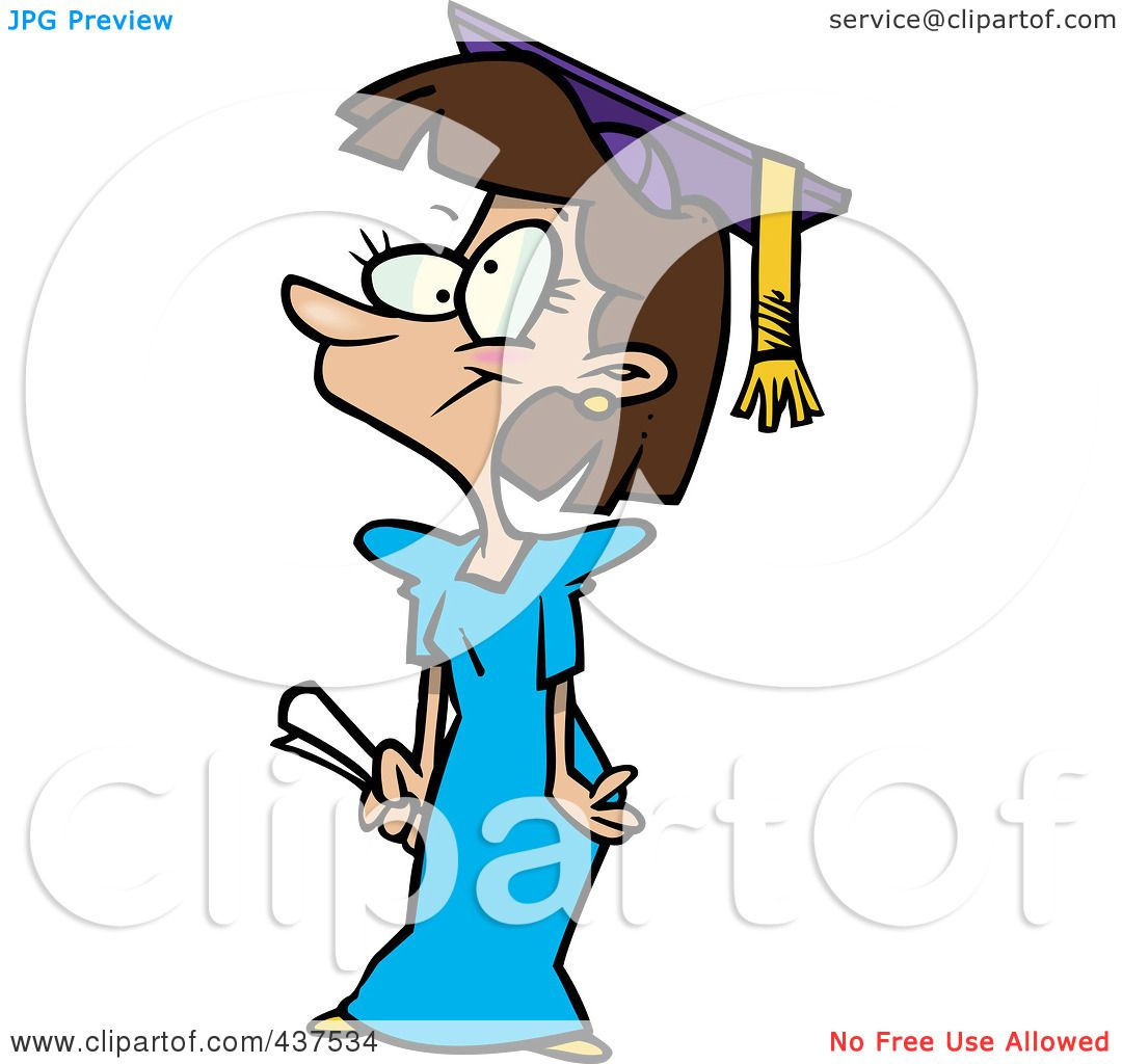 1080x1024 Clipart Of A Black And White Happy Graduate Girl Jumping