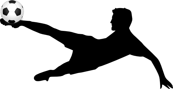 600x308 Soccer Player Kicking A Soccer Ball Clip Art